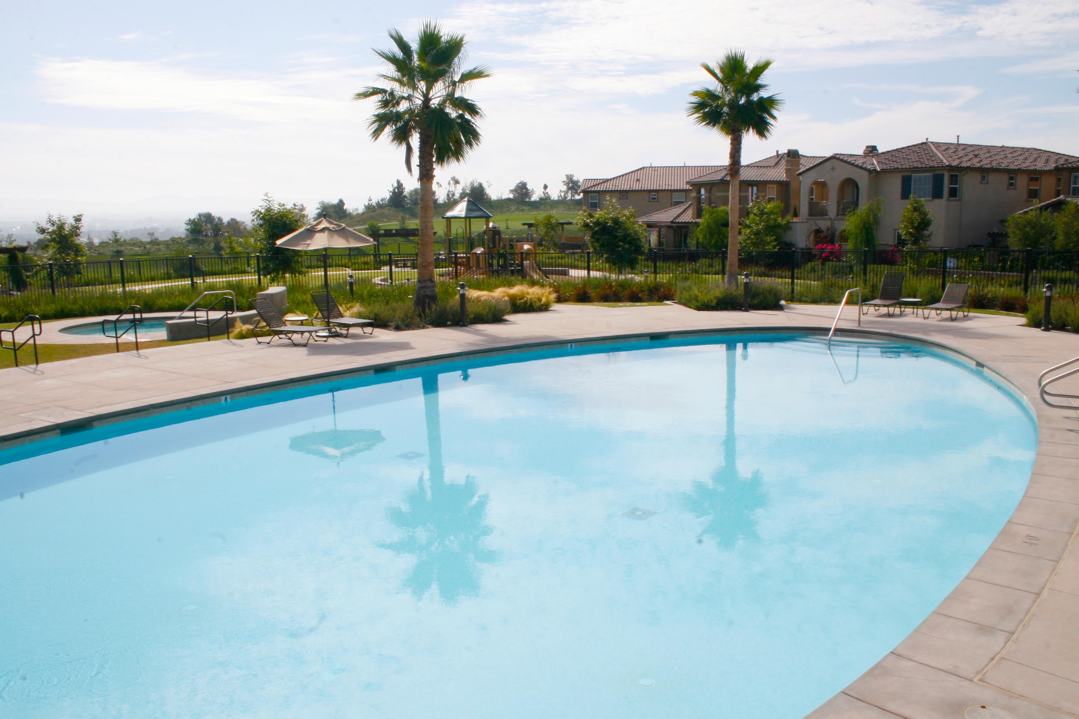 Aliso Viejo Aquatics center pool and building